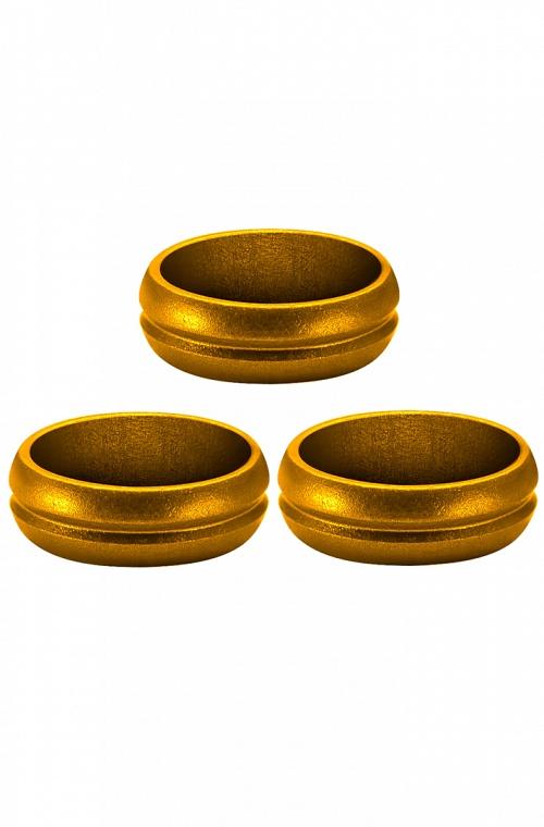 Aneis Mission F-Lock Dourado