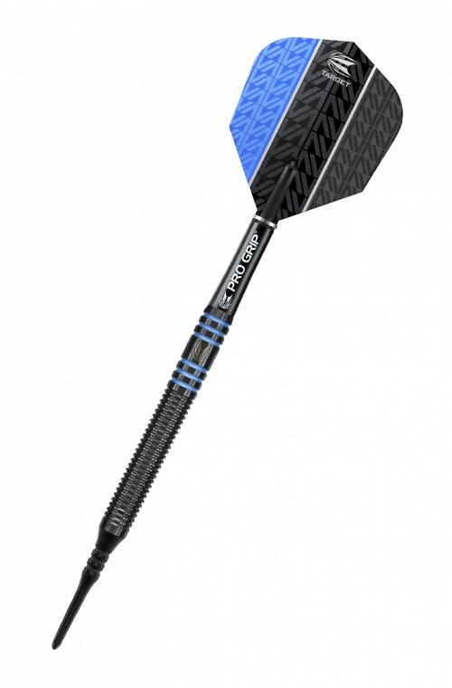 Dardos Target Vapor 8 Black 18gr Azul