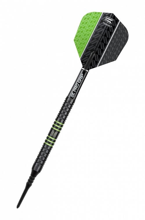 Dardos Target Vapor 8 Black 18gr Verde