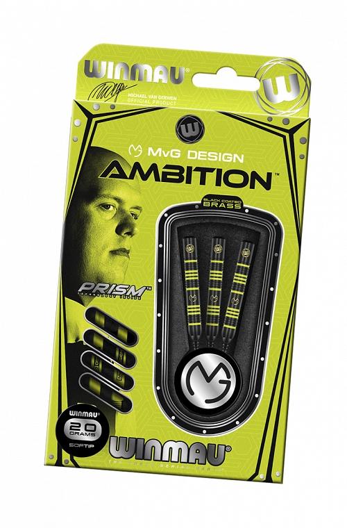Dardos Winmau MVG Ambition Black Brass