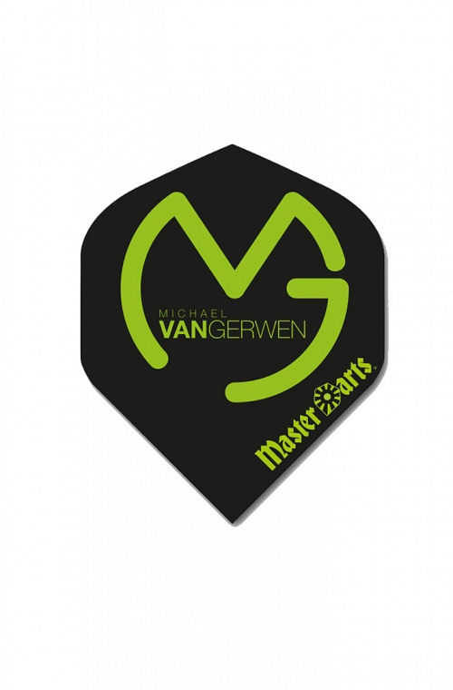 Master Darts Standard Michael van Gerwen Flights Black