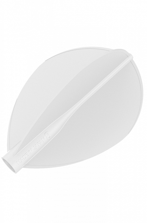 Plumas 8 Flight Oval Blanco