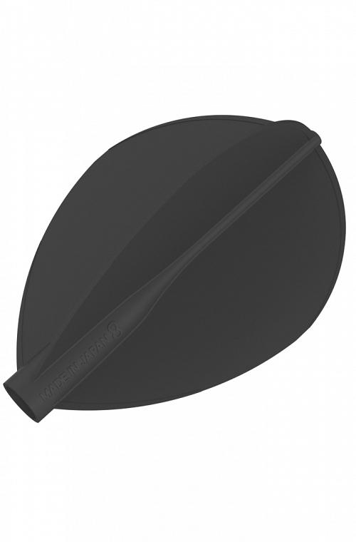 Plumas 8 Flight Oval Negro