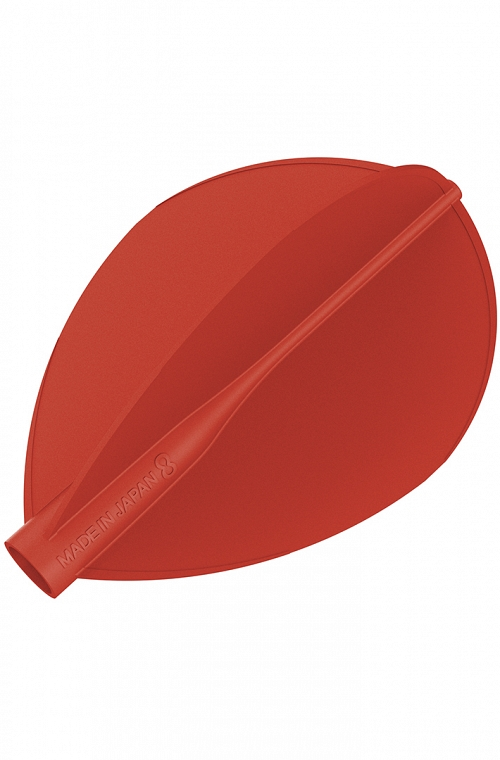 Plumas 8 Flight Oval Rojo