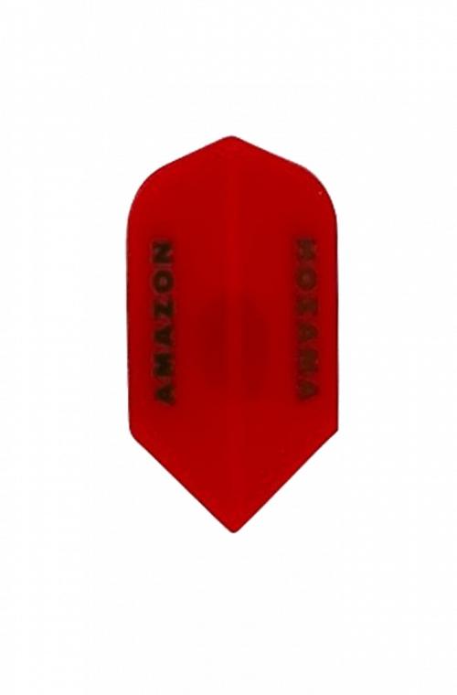 Plumas Amazon Slim Rojo Transparente