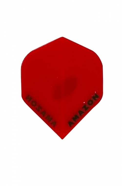 Plumas Amazon Standard Rojo Transparente