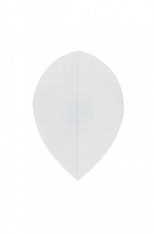 Plumas de Tela Oval Blanco