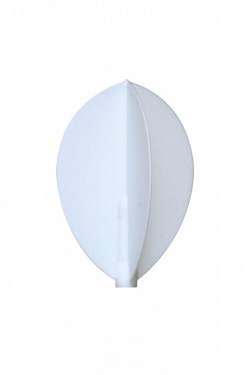 Plumas Fit Flight Oval Blanco 3 uds