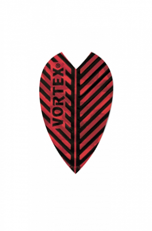 Plumas Harrows Vortex Todo Rojo