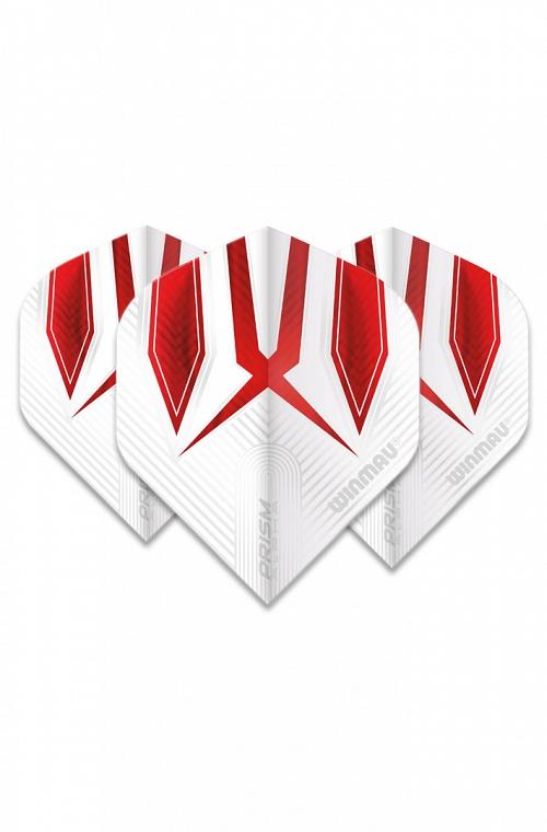 Plumas Winmau Alpha Standard Blanco/Rojo