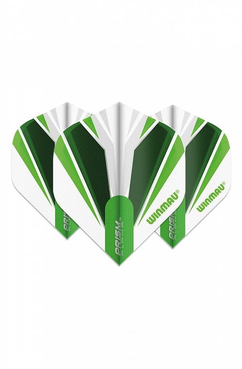 Plumas Winmau Alpha Standard Blanco/Verde
