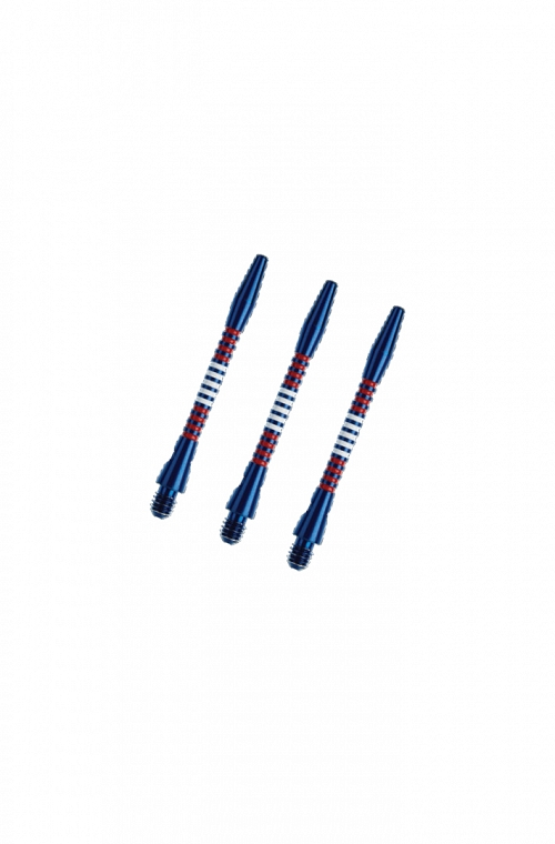 Regrooved Short Aluminium Blue/Red/White Shafts