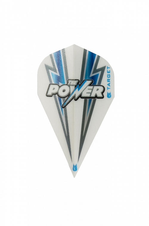 Target Power Flash Vapor White/Blue Flights