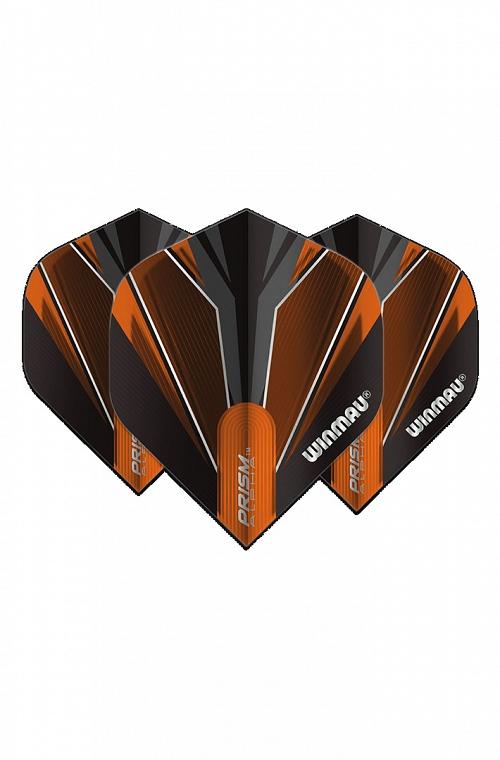Winmau Alpha Standard Flights Black/Orange