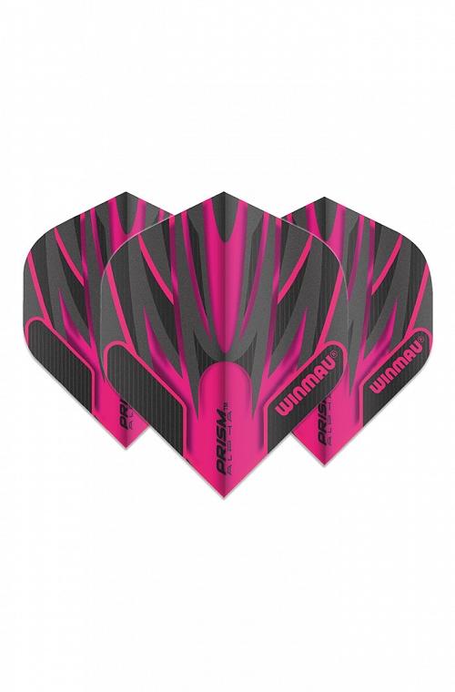 Winmau Alpha Standard Flights Black/Pink