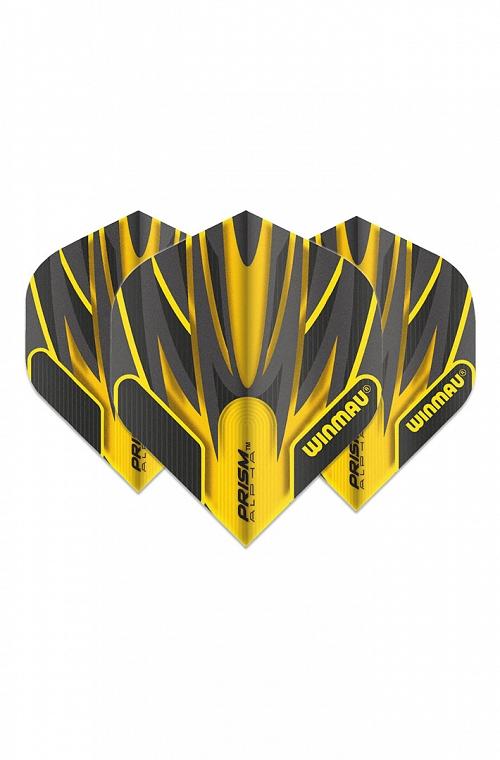 Winmau Alpha Standard Flights Black/Yellow