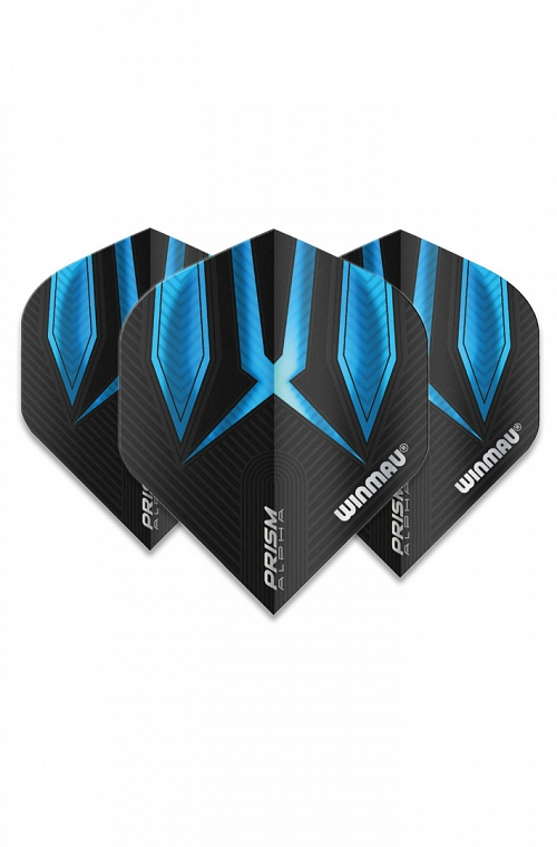 Winmau Alpha Standard Flights Blue/Black
