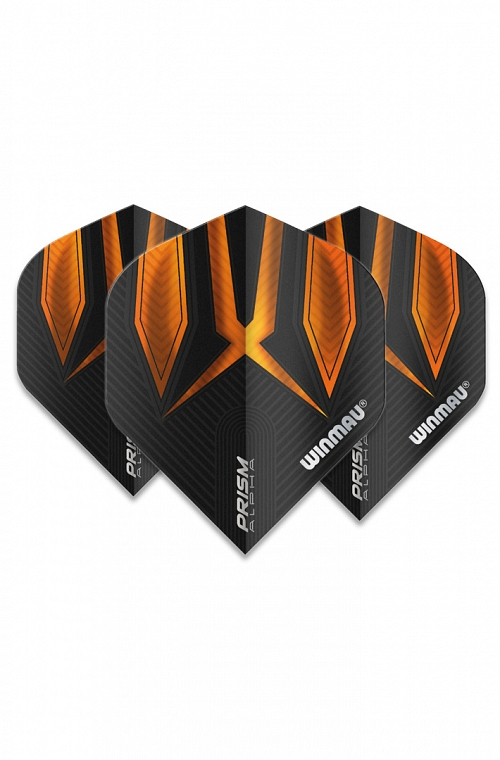 Winmau Alpha Standard Flights Orange/Black