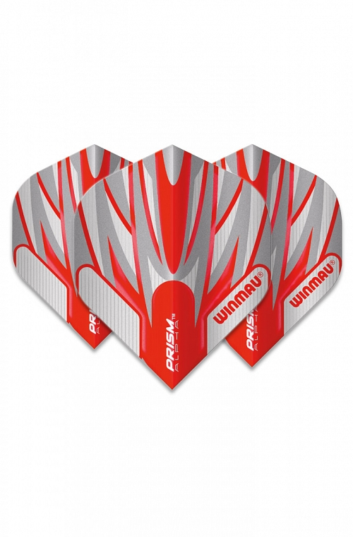 Winmau Alpha Standard Flights Red/White