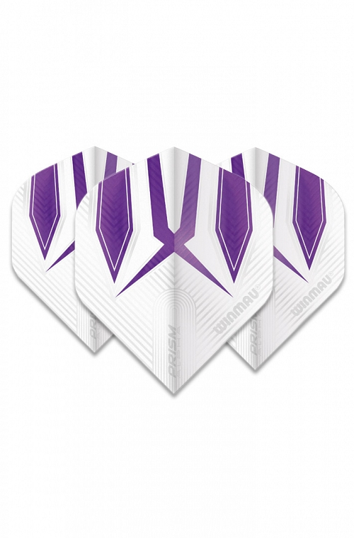 Winmau Alpha Standard Flights White/Purple