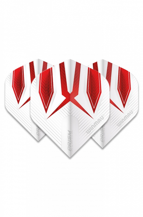 Winmau Alpha Standard Flights White/Red