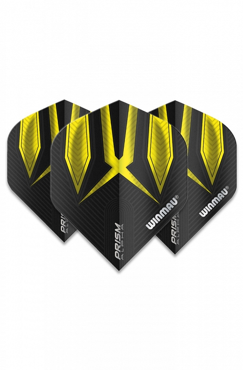 Winmau Alpha Standard Flights Yellow/Black