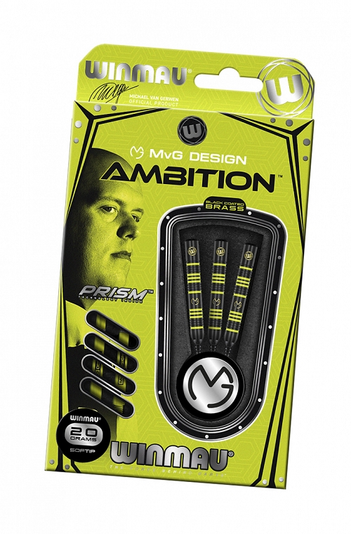 Winmau MVG Ambition Black Brass Darts